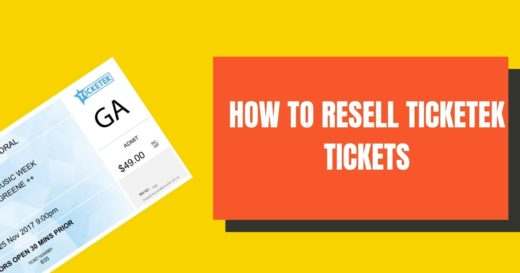 How to resell Ticketek Tickets